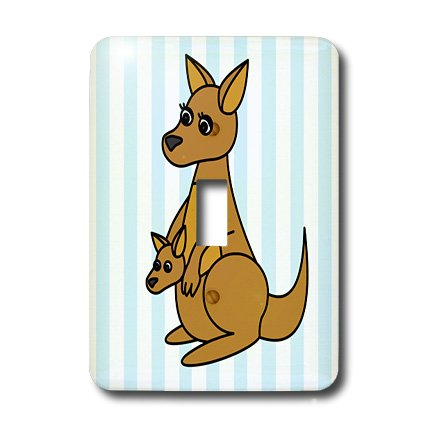 3dRose Lsp_6152_1 Mom and Baby Kangaroo Design Single Toggle Switch