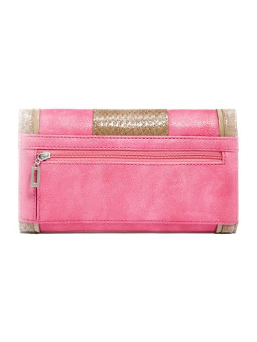 G by GUESS Women's Calliah Checkbook Wallet, PINK