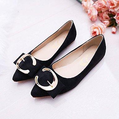 Cómodo y elegante soporte de zapatos de las mujeres pisos primavera comodidad Casual sintética soporte de talón otros negro amarillo rosa rojo gris otros amarillo