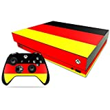 MightySkins Skin for Microsoft Xbox One X - German Flag | Protective, Durable, and Unique Vinyl Decal wrap Cover | Easy to Apply, Remove, and Change Styles | Made in The USA