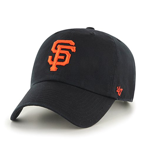 '47 MLB San Francisco Giants Clean Up Adjustable Hat, Black, One Size
