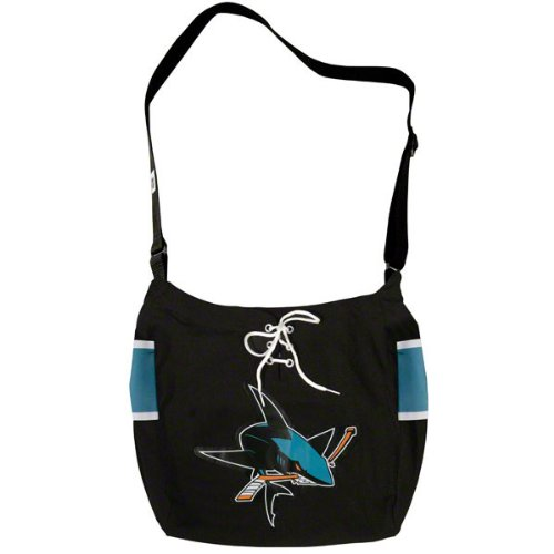 SAN JOSE SHARKS NHL BLACK MVP VETERAN JERSEY TOTE BAG PURSE NEW ()