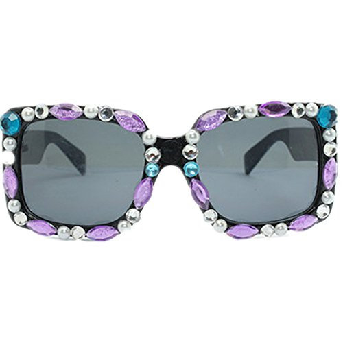 a la de conducir de Peggy personalidad cuadrada sol la de mano mano de señora de la de a cristal gafas Gafas playa la gafas Gu ULTRAVIOLETA protección hechas hecha la sol de sol de para forma de ww0Svq