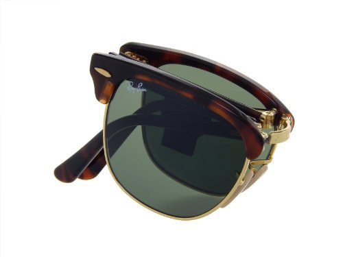 Ray Ban Folding Clubmaster RB2176 990 Tortiose/Crystal Green Lens 51mm - Clubmaster Sunglasses Folding
