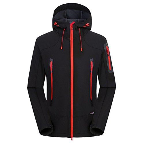 Zhuhaitf Climbing Fleece Soft Men Bello Shell Waterproof Jacket Black Outdoor Travel 6x6rqC