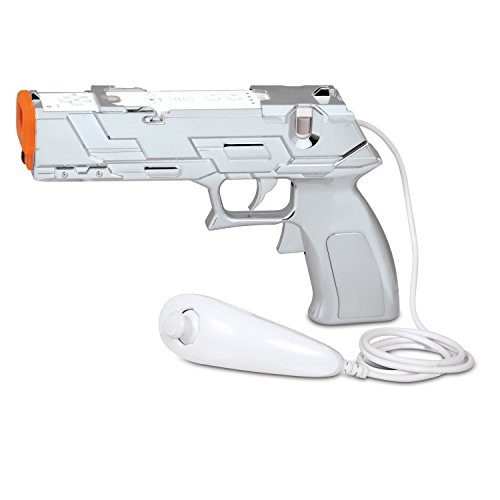 Dreamgear Wii Game - Wii Silver Edition Quick Shot Plus Dual Trigger Light Gun