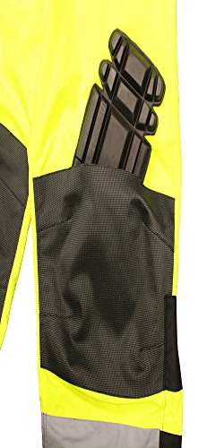 Radians RW32-EZ1Y-2X Class E Heavy Duty Rain Bibs, XX-Large, Green by Radians (Image #4)
