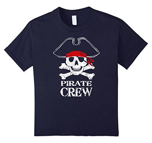 Kids Pirate Crew Family Halloween Costume Shirt Group Costume 12 Navy (Awesome Family Halloween Costumes)