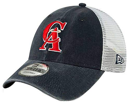 New Era 2019 MLB California Angels Baseball Cap Hat 1993 Cooperstown Truck Mesh Navy/White ()
