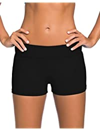 Women's Wide Waistband Swimsuit Bottom Shorts Swimming Panty