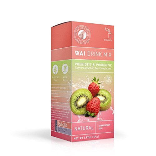 Wai Powdered Drink Mix: Strawberry Kiwi - 3 Boxes of 6 Single Serve Packets Each - Probiotic Flavored Water Enhancer Powder - Natural, No Added Sugar, Artificial (Kiwi Mix)