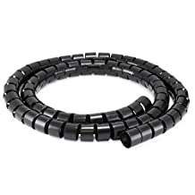 Spiral Wrapping Bands 30mm x 1.5m - PrimeCables® (Black)