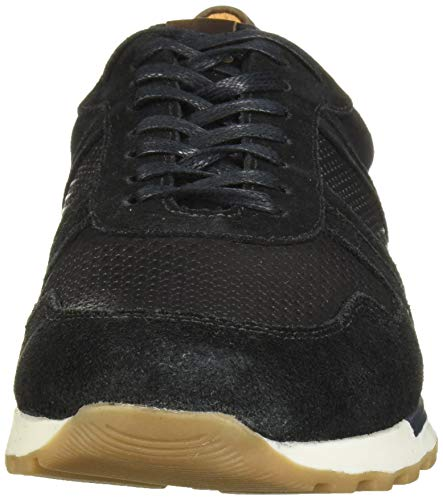 MARC JOSEPH NEW YORK Men's Leather Made in Brazil Luxury Fashion Trainer Sneaker, Black Suede, 8 M US