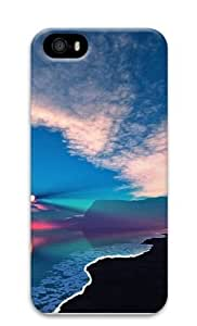 beach sunset reflection PC Case Cover for iPhone 5 and iPhone 5s 3D by runtopwell