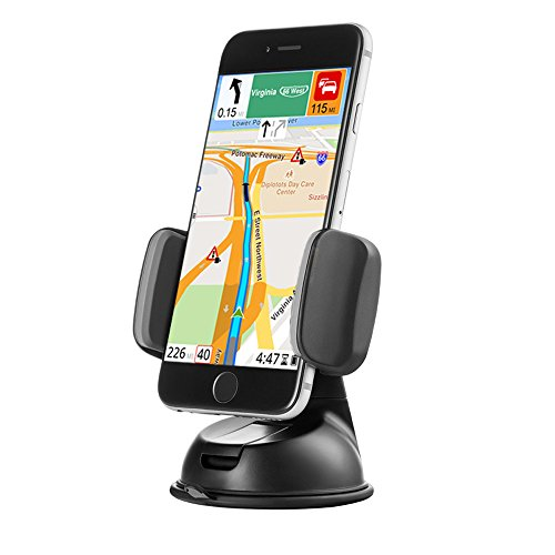 Price comparison product image Zilu Car Phone Mount,  Cell Phone Holder for Dashboard and Windshield,  Car Accessories for iPhone Andorid and More-Retail Packaging
