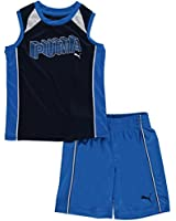 "Puma Little Boys' Toddler ""Cubed Logo"" 2-Piece Outfit"