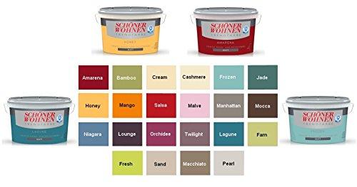 Schöner Wohnen Trendfarbe 2,5 L. Cremige Wandfarbe Niagara Seidenglänzend