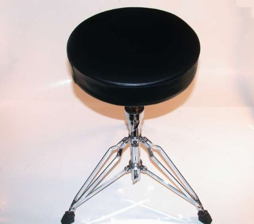 Double Braced Tripod Drum Throne - GP Percussion DT82 Double Braced Drummer's Throne