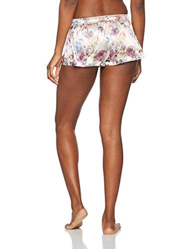 BouxAvenue Blush Rose Printed Short, Pantalones de Pijama para Mujer Off-White (Neutral Mix)