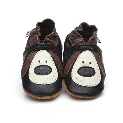 """Weiche Leder Baby-Schuhe """"Hund"""