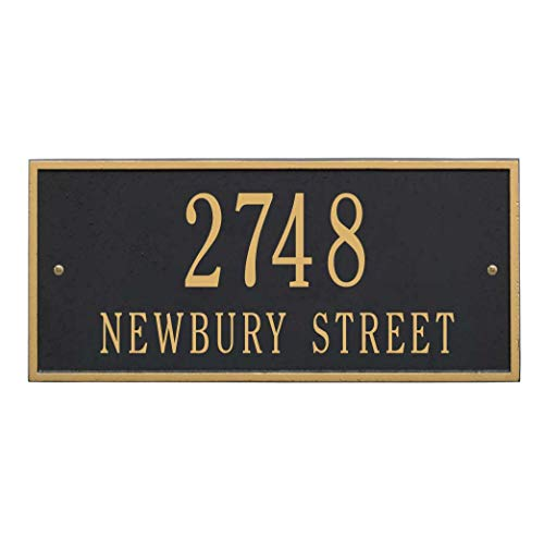 House Name Plaques - Metal Address Plaque Personalized Cast The Hartford Plaque. Display Your Address and Street Name. Custom House Number Sign.