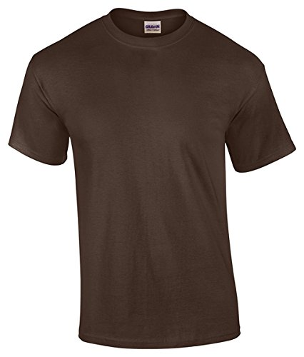 Gildan Men's Heavy Cotton Short Sleeve T Shirt Dark Chocolate (Chocolate Heavy Cotton T-shirt)