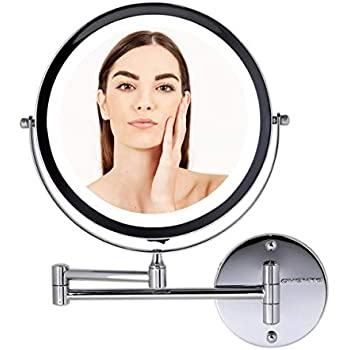 Amazon Com Ovente Wall Mounted Vanity Makeup Mirror 8 5