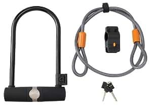 Avenir Standard U-Lock and Cable Lock Duo, Black