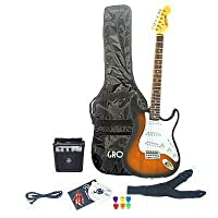 Sunburst Electric Guitar Package & Amp (extras includes DVD book, plectums case, cable and strap)