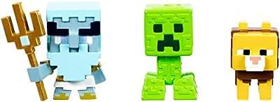 Minecraft Mini Poseidon, Greek Creeper, & Ocelot Chimera Figure, 3 Pack