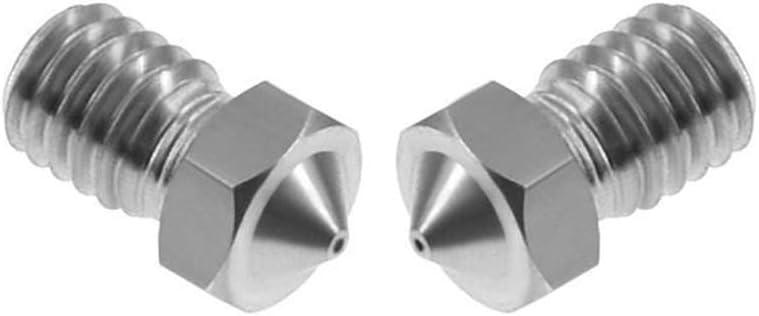 boquillas de lat/ón 0.2 0.3 0.4 0.5 0.6mm para piezas de impresora 3D 10pcs lot V6 Boquilla de acero inoxidable 1.75mm