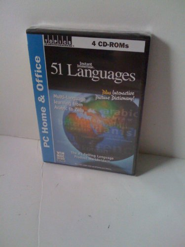 Instant Immersion 51 Languages - Multi-Language Learning From Arabic to Zulu Plus Interactive Picture Dictionary (4 CD-ROMs - Windows/Macintosh) (Picture Plus Dictionary compare prices)