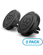 Maxboost Car Mount, [2 Pack] Universal Air Vent Magnetic Phone Car Mounts Holder for iPhone 11 Pro Xs Max XR X 8 7 Plus 6S SE, Galaxy S10 S10e 5G S9, LG,Note 10 and Mini Tablet (Compatible Most Case)