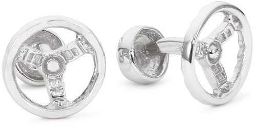 ROTENIER Novelty Sterling Silver ST-Shirtring Wheel and Knob Cufflinks
