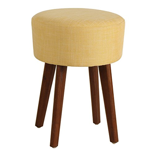 - Porthos Home Antique Revival Wallace Upholstered Stool, Medium, Yellow