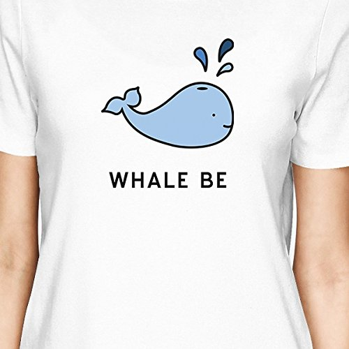 Bff manga para 365 Camiseta juego Whale One Blanco Printing Friend Be corta a Talla de mujer AqS7Ufxw