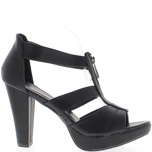 Sandalen Größe groß schwarz Dicke 12 cm breiten Flanschen und Plattform Ferse
