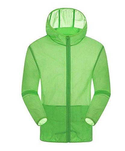 Secado Piel Protector Los Solar La De Delgada Green2 Rápido De Transpirable Hombres La Piel UV Capa Cazadora De PwxUq5Xa