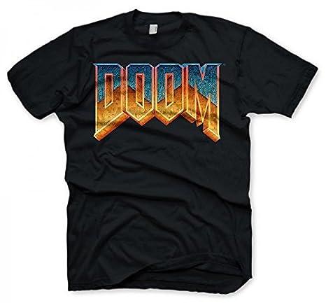58203654 Amazon.com: Doom T-Shirt | Men's Classic Game Logo | Medium | Black ...