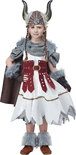 Viking Warrior Costumes - California Costumes Valorous Viking Girl Costume, Multi, Large