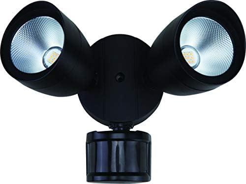 Preston 6 1 2 H Matte Black Led Motion Sensor Security Light