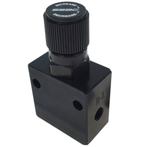 SSBC A0707-1 Black Anodized Adjustable Proportioning Valve Adjustable Brake Proportioning Valve