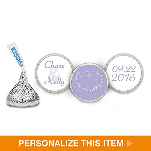 Dazzle Wedding Stickers for HERSHEY KISSES - Lilac (108 Count) Lilac Kisses