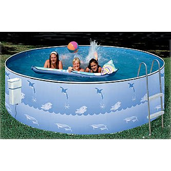 Heritage 12ft x 36in Aqua Family Above Ground Pool Package