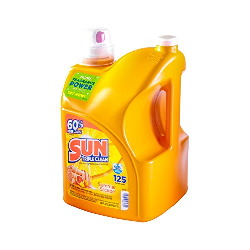 Sun Liquid Laundry Detergent Summer Escape, 188 Ounce, 134 Loads