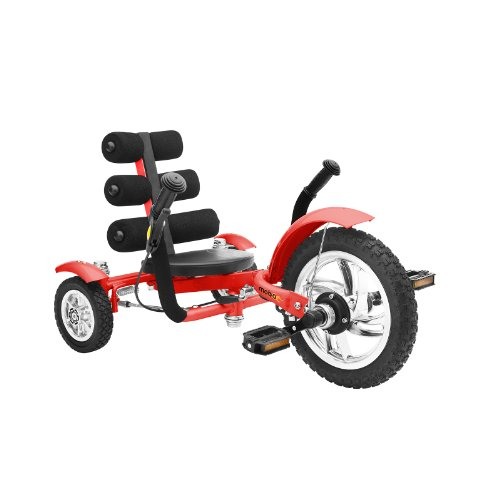 - Mobo Cruiser Mini Luxury Three Wheeled Cruiser, Red, 12-Inch