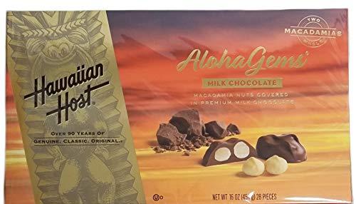 (Aloha Gems Milk Chocolate Macadamia Nuts Covered In Premium Milk Chocolate - 16 oz. (28 Pieces))