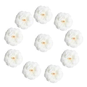 MagiDeal 10pcs Artificial Silk Camellia Flower Head DIY Wedding Party Decor White 110