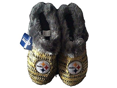 Pittsburgh Steelers Womens Peak Slide Slippers (X-Large) at Steeler Mania