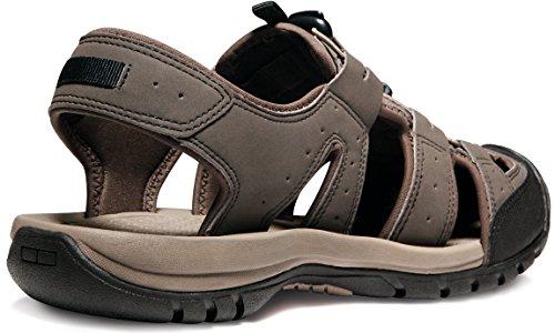 ATIKA AT-M108-CBN_Men 9 D(M) Men's Sports Sandals Trail Outdoor Water Shoes 3Layer Toecap M108 by ATIKA (Image #3)